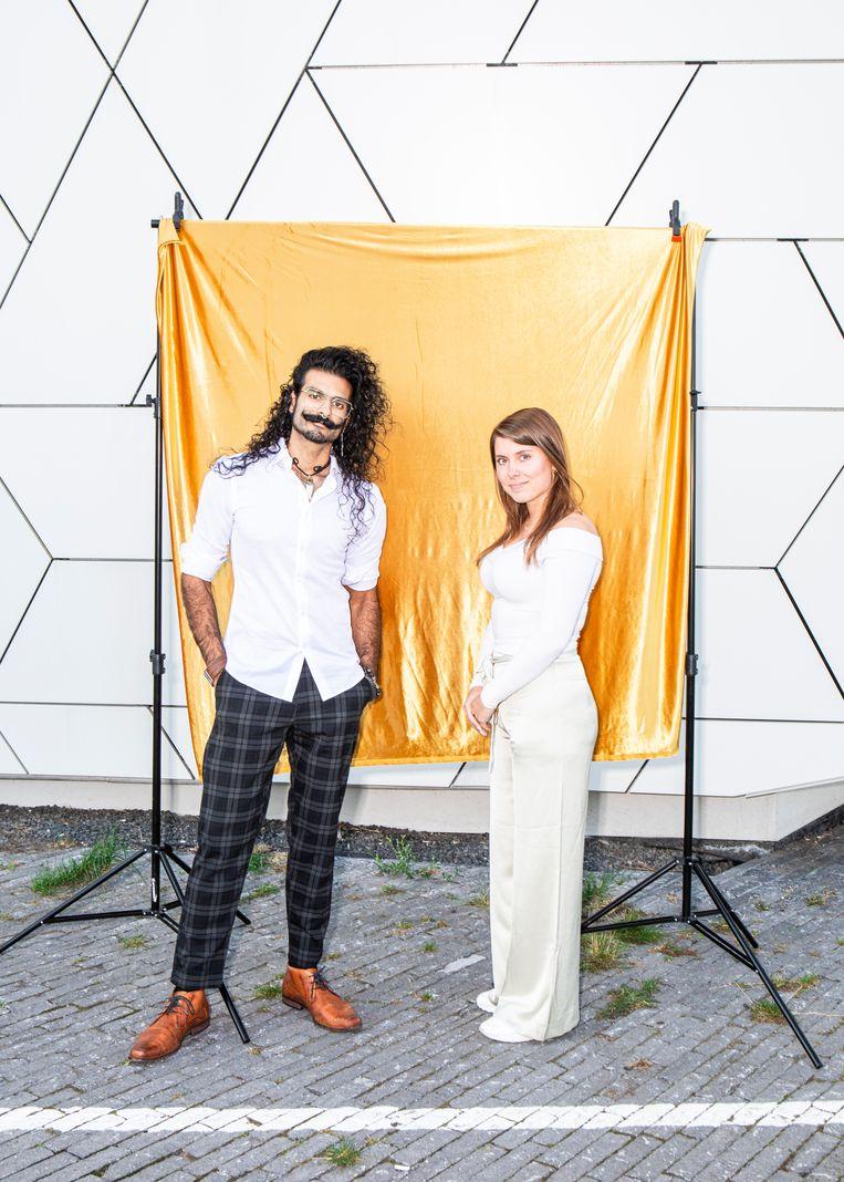Roshan Nejal en Kim Verdegem voor filmmuseum Eye. Beeld Hilde Harshagen