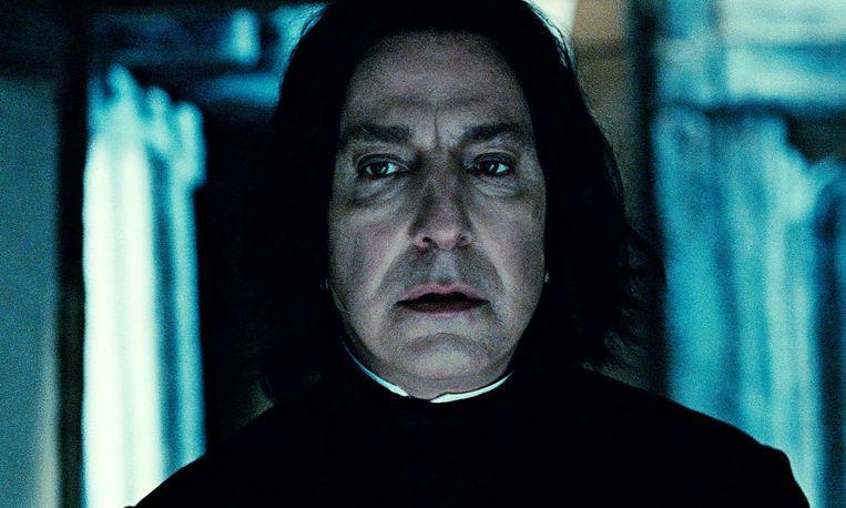 Alan Rickman als Severus Sneep. Beeld ap