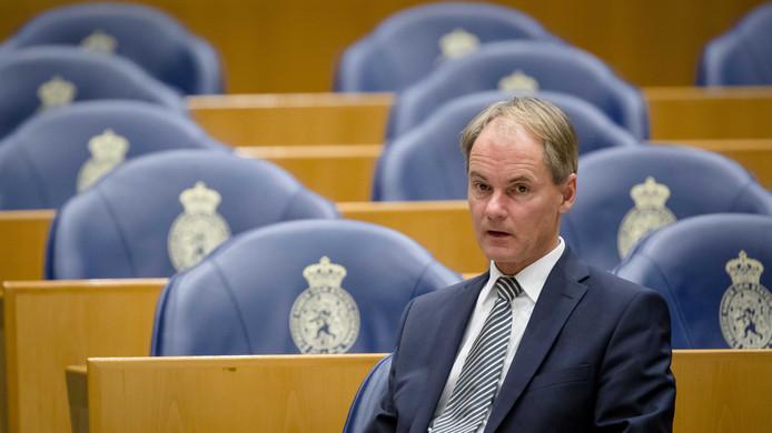 Harry van Bommel in 2016 tijdens een debat in de Tweede Kamer.