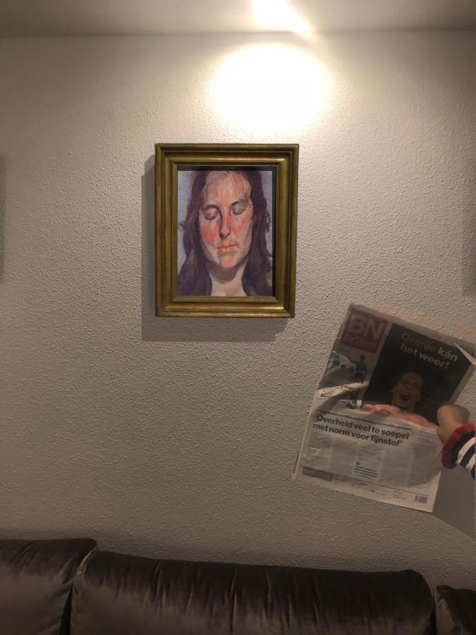 De bewuste foto van het gestolen miljoenenschilderij.