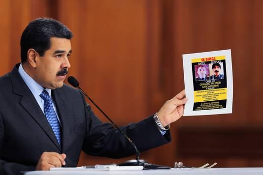 President Nicolas Maduro uit zijn beschuldigingen in een televisietoespraak.
