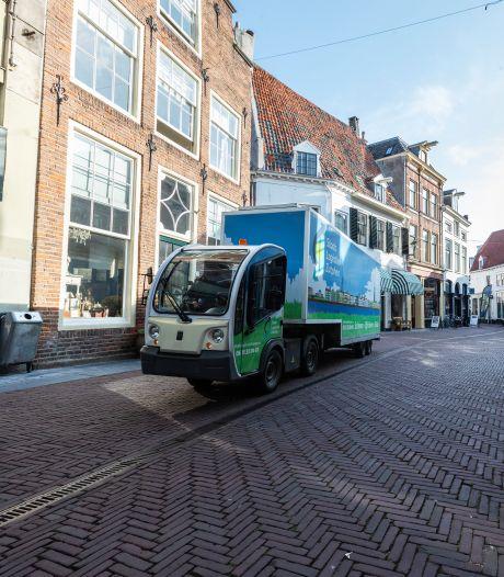 Einde aan grote hoeveelheid stinkende vrachtwagens in binnenstad dankzij Amersfoortse hub