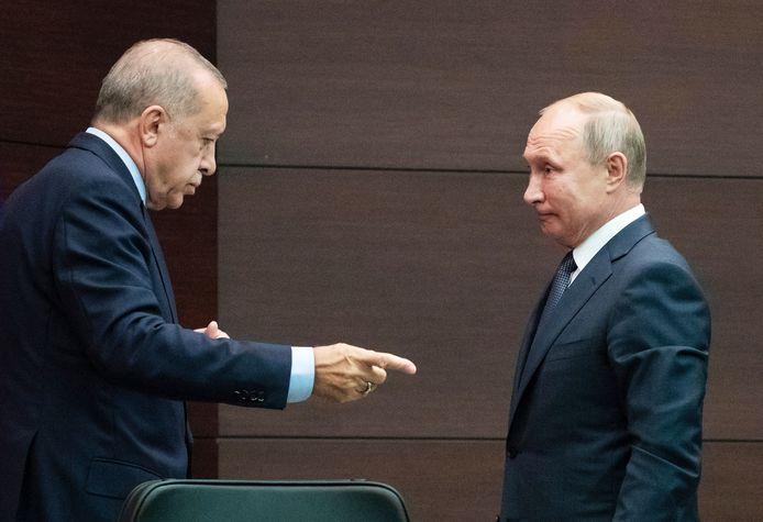 Recep Tayyip Erdogan en Vladimir Putin.