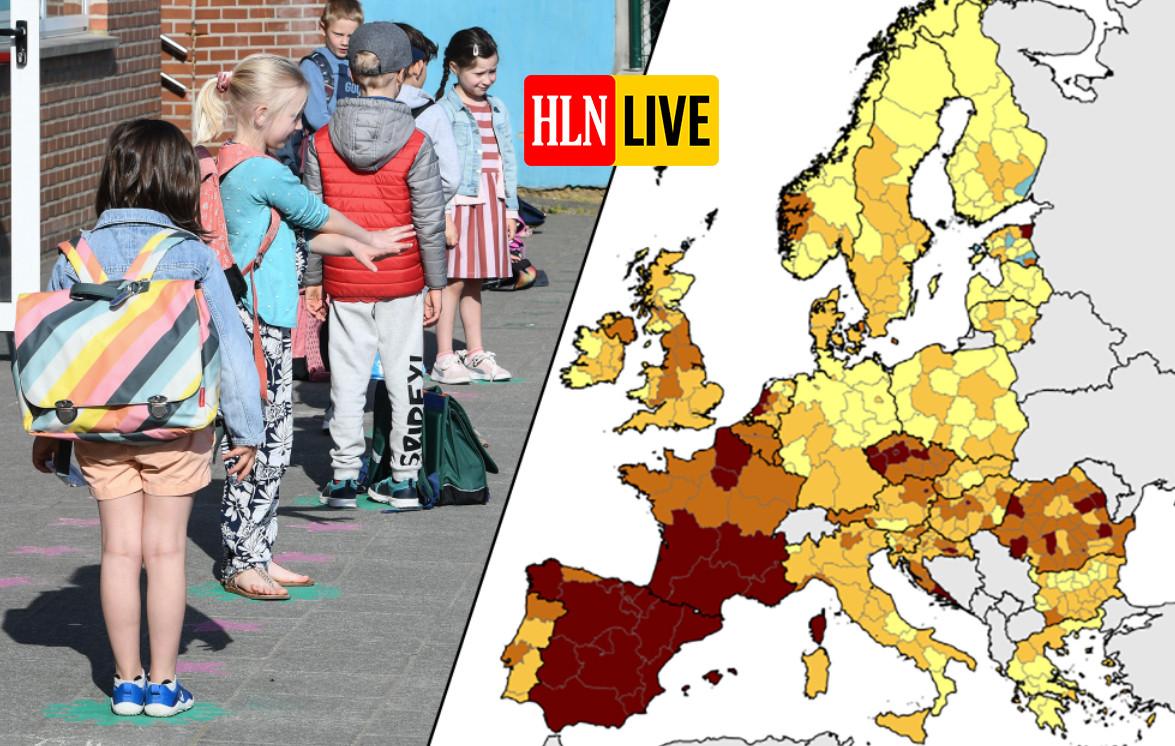 België kleurt weer donkerder op Europese coronakaart.