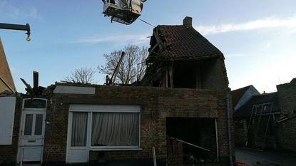 Woning ingestort tijdens verbouwingen