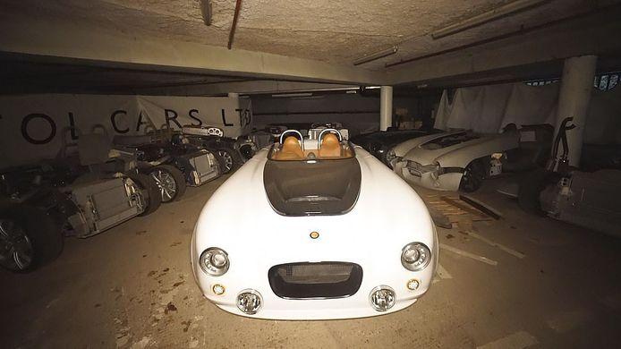 Een van de ontdekte sportwagens.