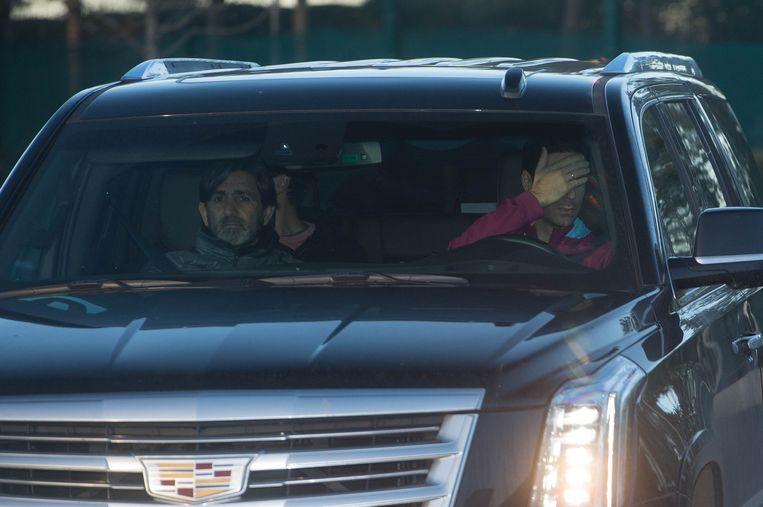 Arteta verborg gisteren het hoofd toen hij de Etihad Campus van Man City binnenreed.