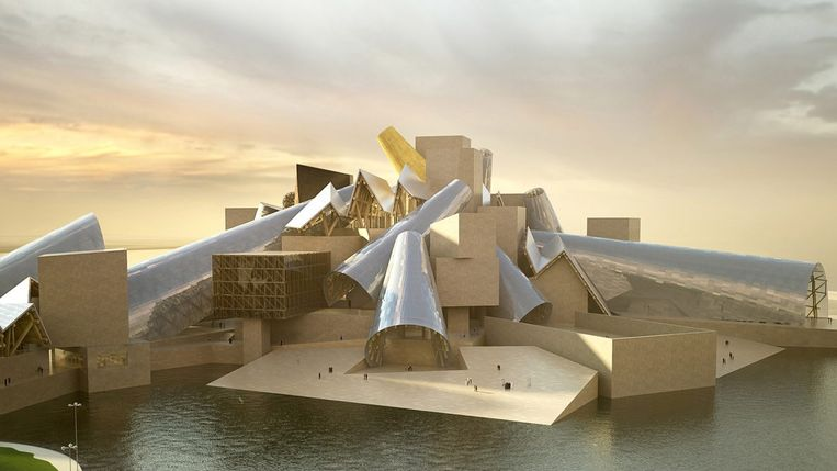 Artist's impression van Guggenheim Abu Dhabi. Beeld