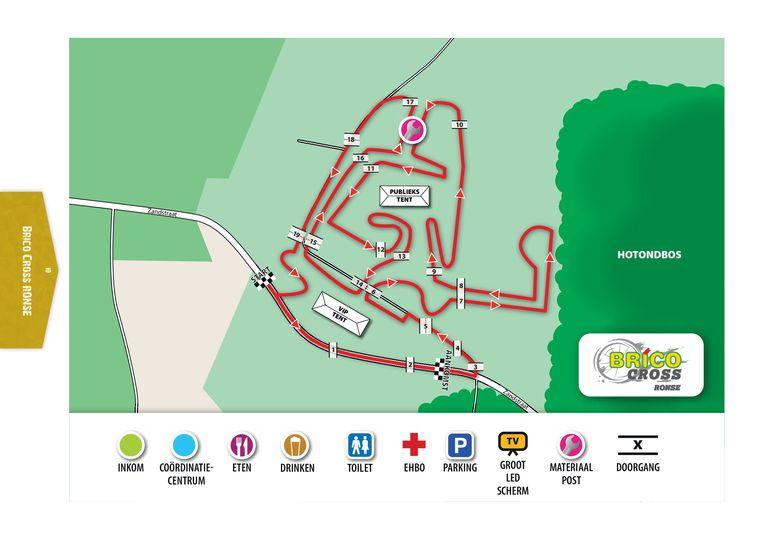 Het parcours van de Hotond Brico Cross Ronse.