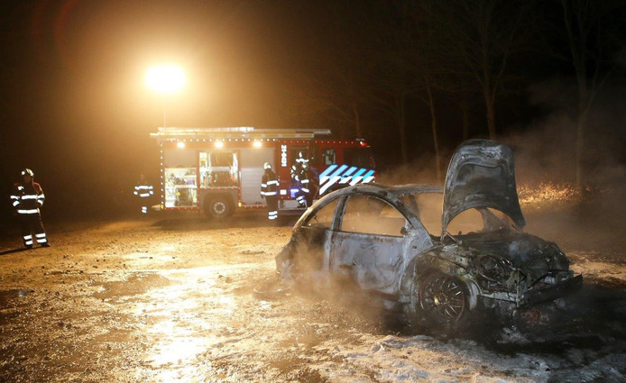 De uitgebrande auto werd gevonden in de bossen Kaathoven tussen Berlicum en Vinkel.