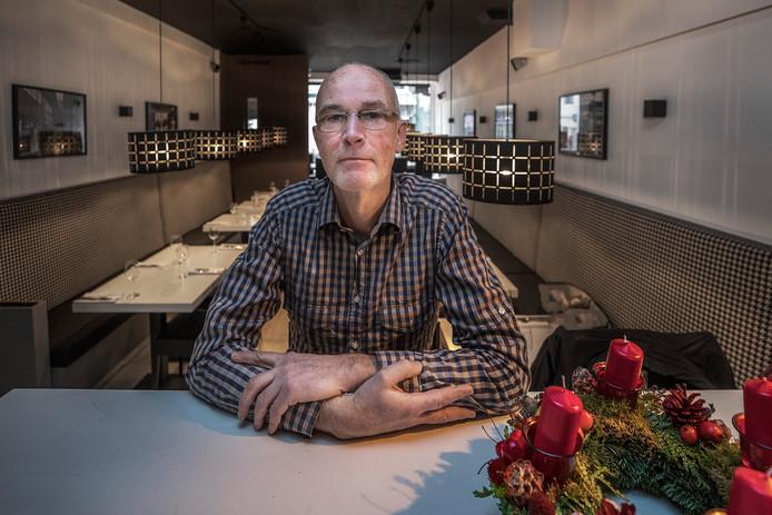 Rick van der Ploeg, eigenaar van restaurant Sparkling aan de Voorstraat: 'Er zijn dagen dat er niemand komt eten.'