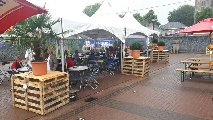 Het 'Hart van Brabant'paviljoen bij HelvoirThuis was zondag leeg en zaterdag heel vol.