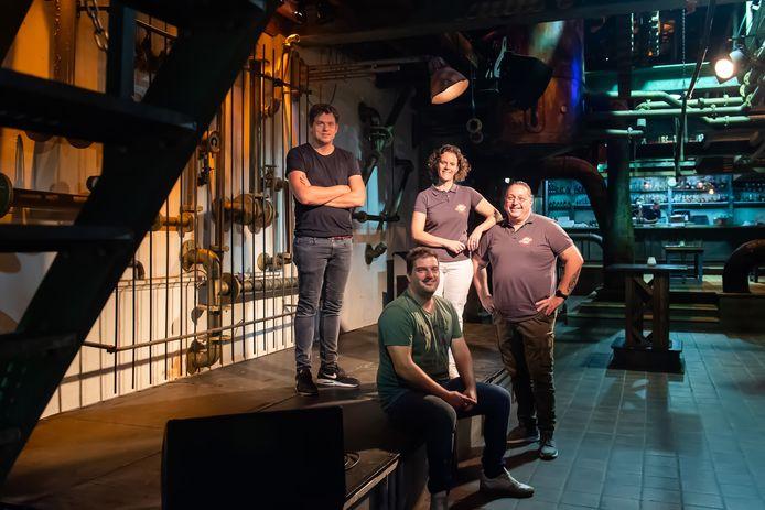 Mark de Kwaadsteniet, Bart Heijne, Janine de Waard en Huub Lommers.
