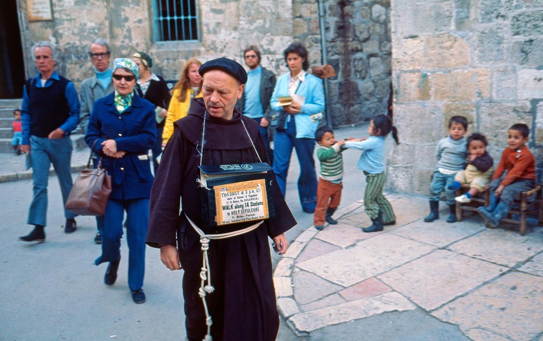 Via Dolorosa, Jeruzalem, 1974. Beeld Eddy Posthuma de Boer