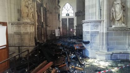 Vrijwilliger opgepakt na brand in kathedraal Nantes