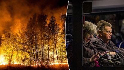 Nederlands dorpje op 20 km van Belgische grens in holst van de nacht ontruimd door verwoestende natuurbrand