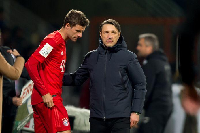 Thomas Müller met Niko Kovac.