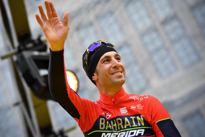Vincenzo Nibali bij de start van de Ronde van Vlaanderen.