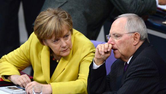Merkel en Schäuble zitten op één lijn ten aanzien van Griekenland, maar er zou te praten vallen over het Griekse voorstel.