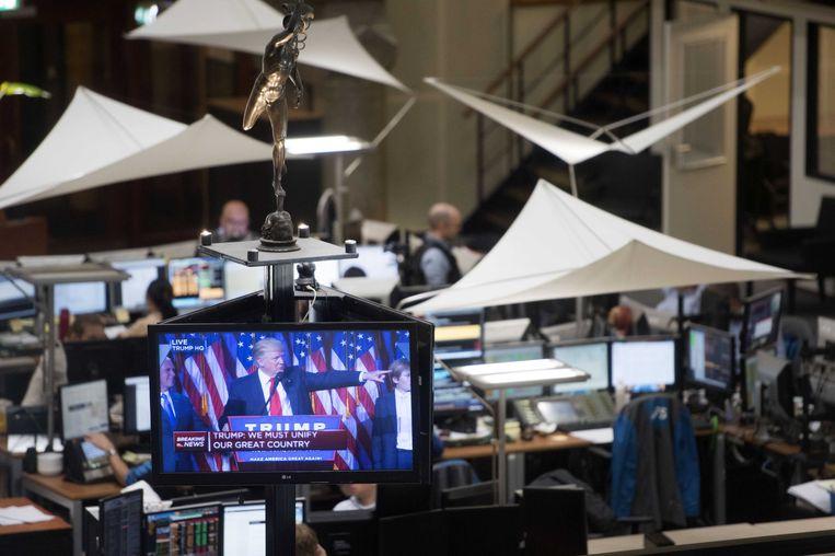 De Amsterdamse beurs opende scherp lager na de verkiezing van Trump Beeld anp
