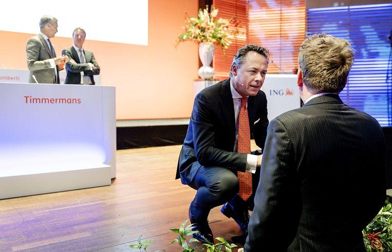 Ralph Hamers voorafgaand aan een aandeelhoudersvergadering van ING Groep N.V. in 2018. Beeld ANP