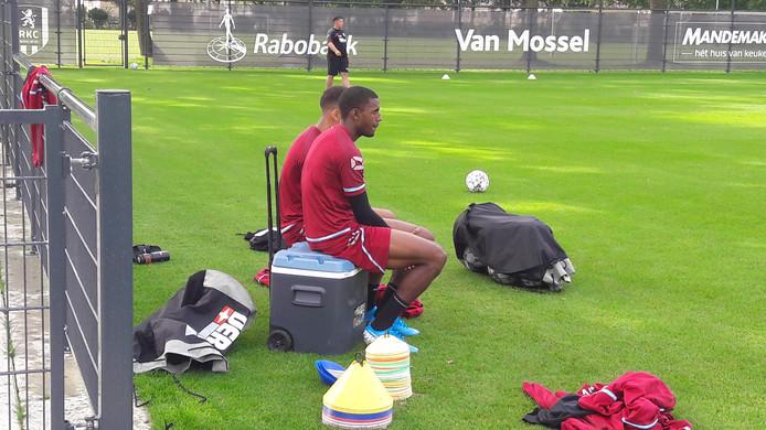 De internationals Said Bakari en Jurien Gaari werden een beetje ontzien bij de training van RKC Waalwijk.