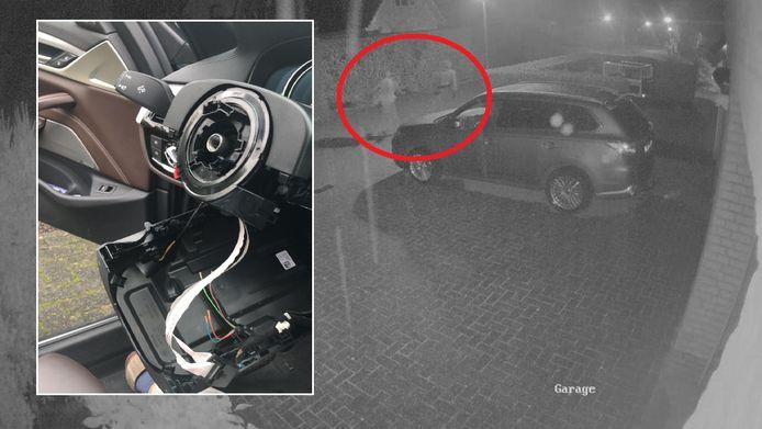 Twee onbekenden roofden drie BMW's in Zwolle-Zuid helemaal leeg.