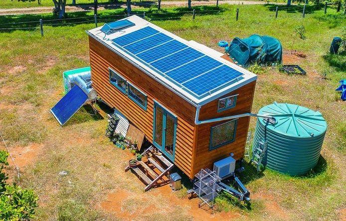 Voorbeeld van een tiny house, off-grid, zoals de gemeente Harderwijk eerder ter illustratie presenteerde.