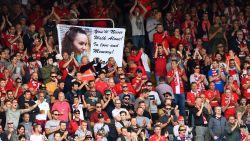 Supporters Antwerp brengen hulde aan betreurde Stacey Vervoort (14)