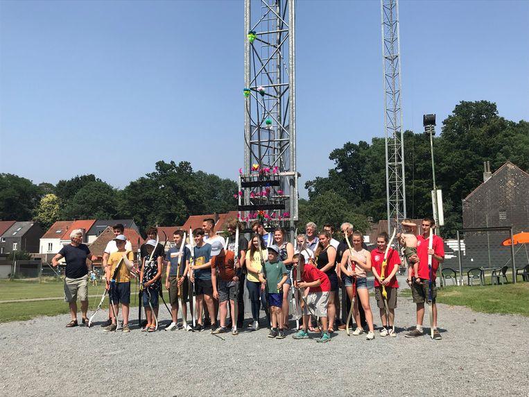 Woensdagnamiddag vond op het Schuttershof van de Koninklijke Schuttersgilde Sint-Sebastiaan de jeugdnamiddag van het Vlaams Handboogschuttersverbond plaats.