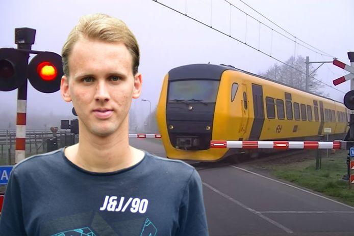 Justus is het brein achter de video van een voorbijrazende trein in Laag Zuthem. Het filmpje werd miljoenen keren bekeken.