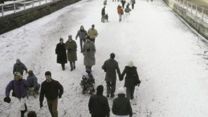 Zo was het 32 jaar geleden: glijden op de Brugse reien
