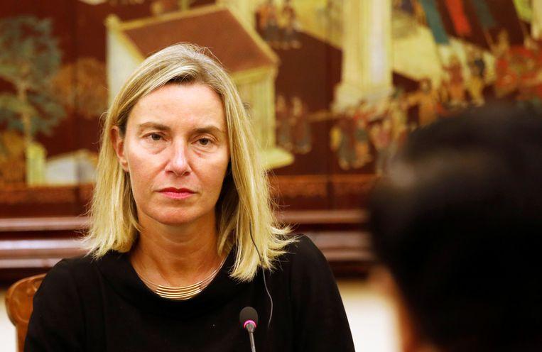 Federica Mogherini, de hoge vertegenwoordiger van het Europees buitenlands beleid.