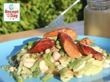 Recept van de dag: Blote-billetjes-in-het-gras aardappelsalade met worstjes