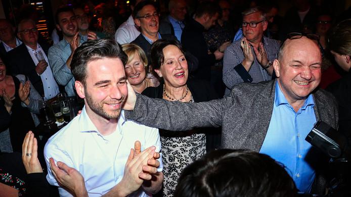 Marinus Biemans (lijsttrekker, links) en Michiel Dankers van DOE!