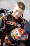 De 12-jarige Max Verstappen in zijn kart.
