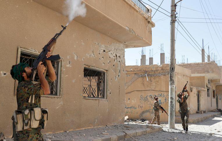 De stad Raqqa in Syrië. Beeld REUTERS