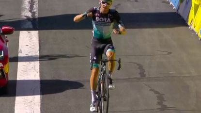 Duitser Kämna soleert naar zege in vierde rit Dauphiné, Roglic blijft ondanks valpartij leider