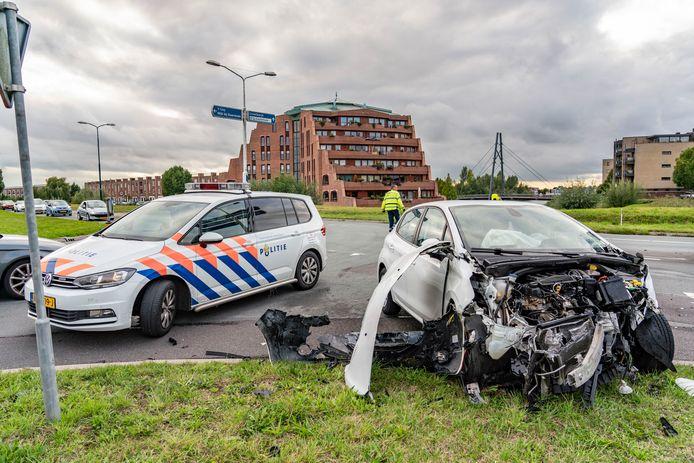 De schade aan de auto's was groot.