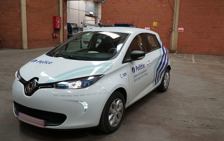 De elektrische Renault van de zone.