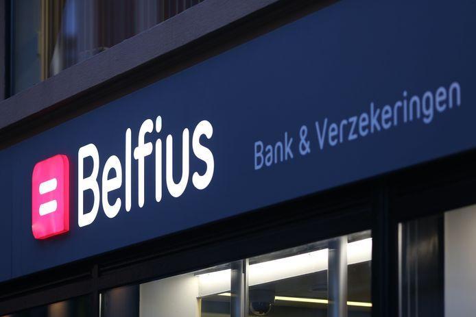 Enseigne Belfius à Ostende