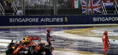 Wedstrijdleiding straft niemand na botsing Verstappen en Ferrari's