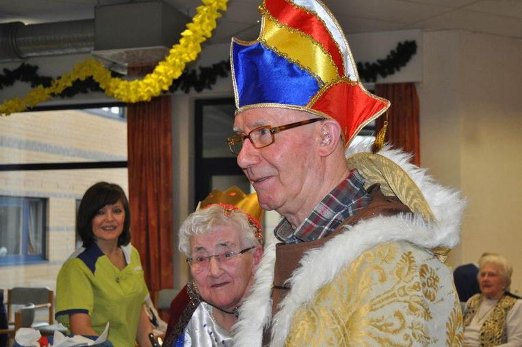 Maurits Vanden Brulle en Trinette Mylemans , allebei 87 jaar, zijn prins en prinses carnaval van Woonzorgcentrum Ter Biest.