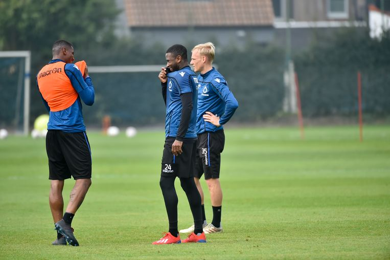 Wesley, Denswil en Decarli op de open training van vorige week.