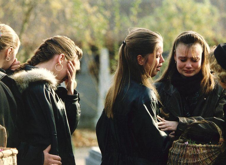 De begrafenis van Nicole van den Hurk.  Beeld ANP