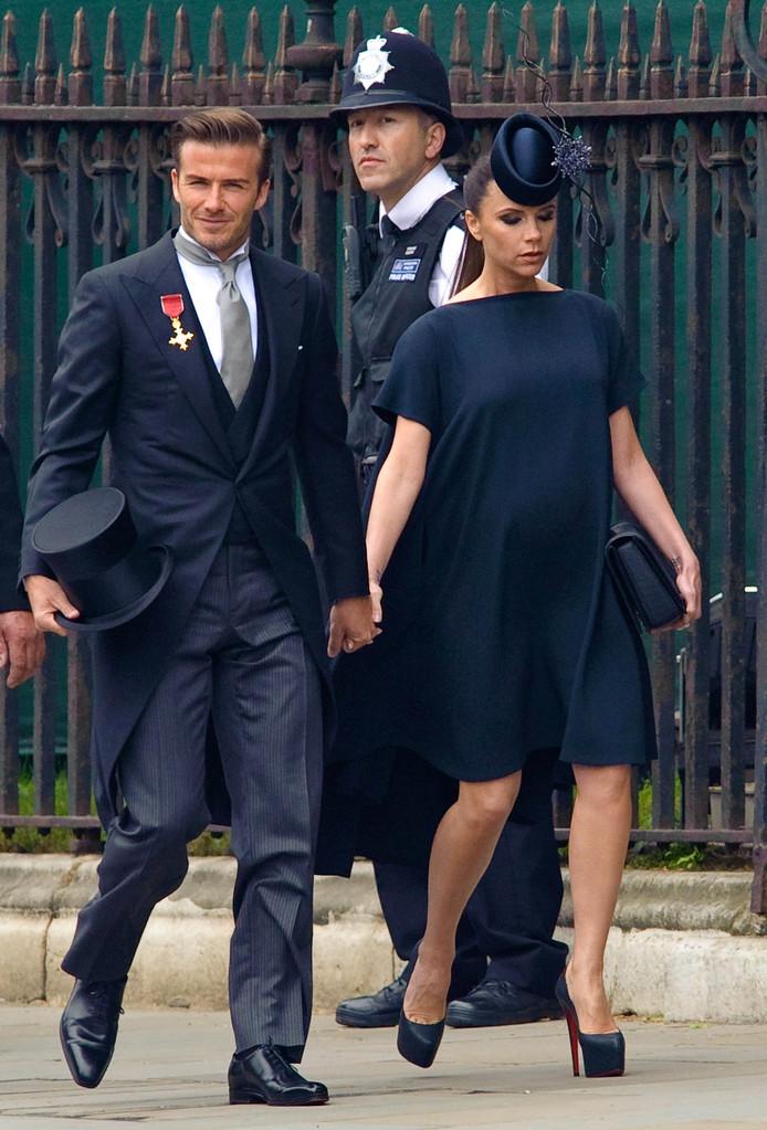 De Beckhams. David deed bijna alles fout tijdens de vorige royal wedding.