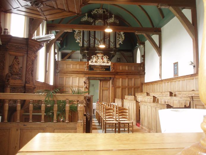 Het orgel van de dorpskerk van Burgwerd.