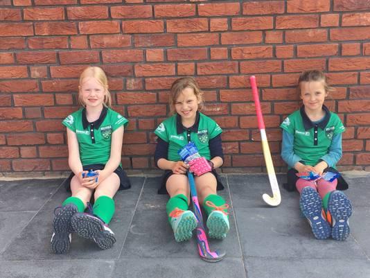 Froukje Pothof (9), Flora van Hasselt (8) en Juhara Dijk (9) zijn niet ingeloot.
