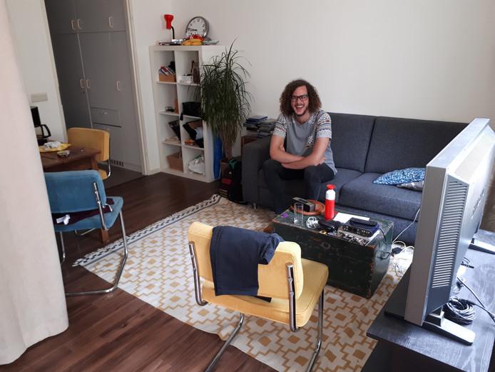 Jesse Borger in zijn kamer.