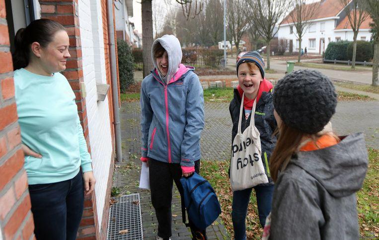 Ook in Herentals trokken heel wat zangertjes de straat op.